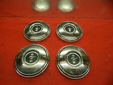 4 Takeoff Used 68 Ford Mustang Black Crest Center 10 12 Hub Caps C8zz 1130 F Fits Mustang
