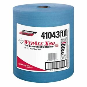 """Wypall 41043 12.5"""" x 13.4"""" Blue X80 Jumbo Roll Wipers (475/Pack)"""