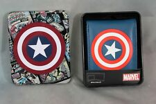 Captain America Wallet Collectible Tin New with Tags Billfold Marvel Comics