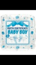 Its A Boy Blue Welcome New Baby Foil Balloon DIY Personalised Birth Certificate