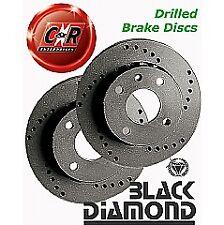 VW Lupo 6X GTi 1.6 16v 01on Black Diamond Drilled Front Discs KBD1166CD