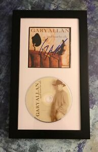 GFA Used Heart for Sale Album GARY ALLAN Signed CD Booklet Framed COA