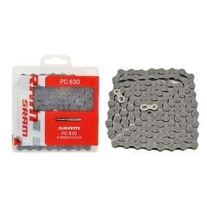 SRAM PC-830 Bicycle Chain Mountain Bike Road Cycle MTB 7 / 8 Speed Grey >PC830<