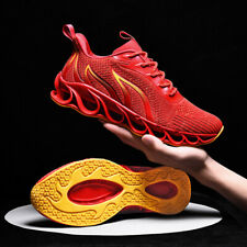 Men's Springblade Athletic Sneakers Sports Running Shoes Breathable Soft Folding