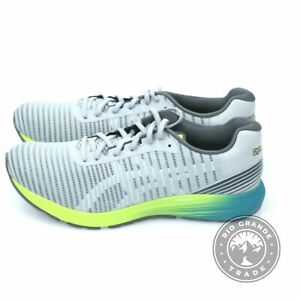 NEW ASICS Men's Dynaflyte 3 Road Running Shoes in Gray / White Fabric - 12
