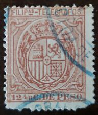 Philippines stamp Telegragos  Spain Colony  used hinged.,