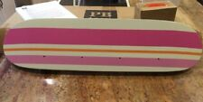 Bnib Pottery Barn Skateboard Row Of Hooks White Skateboard Pinks Orange Stripes