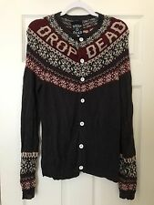 Drop Dead Clothing - RARE- Men's Small Christmas Cardigan  - Oliver Sykes
