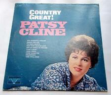 Patsy Cline Country Great 1969 Vocalion 73872  Stereo Country Vinyl LP Strong VG