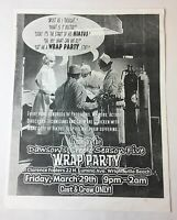 DAWSON'S CREEK set used SEASON 5 WRAP PARTY FLIER