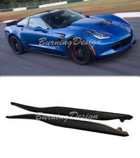 For 14-Up Corvette C7 ABS Side Skirts Rocker Panels Kit Stingray Z06 Z07 Style