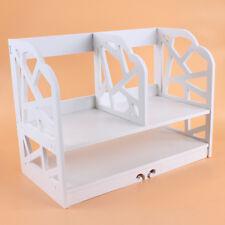 Mini Blanco Estante de Libro Escritorio de Madera 30 * 21 * 41cm Ordenador