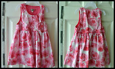 JFJ 2 years baby girl white & pink floral dress summer 100% Cotton made in Austr