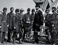 "President Abraham Lincoln at Antietam 8""x 10"" Civil War Photo Picture #33"