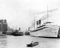Historical Photograph of Steamship City of Erie & Northland Buffalo NY 8x10 1905
