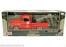 Motor Max  1958 Chevy Apache Fleetside Pick Up Tow Truck Red 1/24 Model 75343