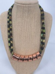 Beautiful  Jay King DTR mine find  Copper turquoise beads 2 Strands  Necklace