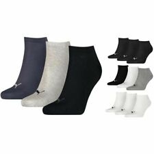 Puma Sneaker Invisible Soft Cotton Trainer Socks 3 Pack