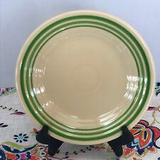 Fiestaware Retro Green Stripe Lunch Plate Fiesta HLCCA Exclusive 9 in Luncheon
