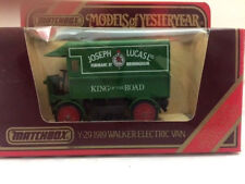 Matchbox Models of Yesteryear Y29 1919 Walker Electric Van Joseph Lucas