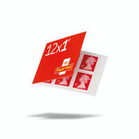 New 12 x 1st Class Royal Mail Postage Stamps Booklet
