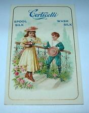 ANTIQUE ADVERTISING TRADE CARD CORTICELLI SPOOL SILK & WASH SILK