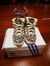Jeremy Scott Adidas women's Leopard Sneakers Us 4  good condition