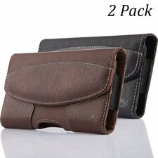 2x Horizontal Leather Case with Belt Clip Holster Belt Loop for iPhone 6 7 8Plus