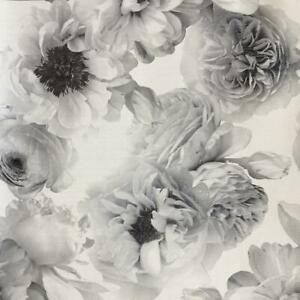 Black and White Flower Wallpaper Diamond Bloom Glitter Floral by Arthouse 257001