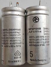 2 Stück Kondensator 5uF Alugehäuse - Anlaufkondensator