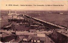 CPA  Séte (Hérault) - Station Balnéaire - Vue d'ensemble - Le Mole ...  (511242)