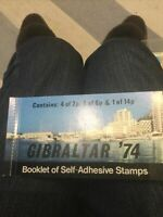 GIBRALTAR 1974 STAMP BOOKLET WITH   UNMOUNTED MINT PILLAR BOX STAMPS