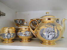 Endre Szasz - Limited Edition - Gold Tea Set - Hollohaza Porcelan