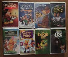 Lot 8 Disney VHS Movies Mickey Pooh Bug's Life Mouse Detective Martian Joe Young