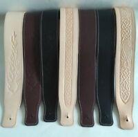 British, Handmade, Premium Quality, Leather Guitar straps ,Choice of designs.