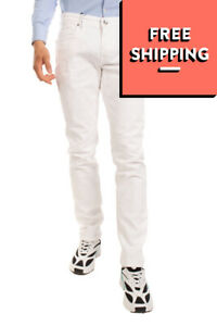 RRP €130 RE-HASH Jeans Size 33 Stretch White Zip Fly Made in Italy