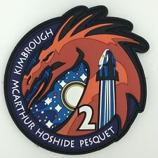 SpaceX Crew 2 PVC Patch NASA Mission ISS Space Dragon Falcon