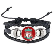 Liverpool F.C Adjustable Leather & Glass Cabachon Wristband