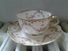 Limoges Haviland Tea Cup and Saucer, vintage