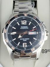 New Casio MTD1079D-13TT, Men's Super Illuminator Watch, Day/Date, 100 Meter WR