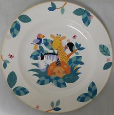 MIKASA JUNGLE FRIENDS CHILDREN'S DINNER PLATE CC104 LION ZEBRA BIRD GIRAFFE EUC