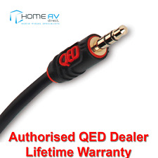 QED Profile 3.5mm Mini Jack Aux Cable Lead for Car Stereo iPod iPad 1m - QE2764