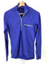 PATAGONIA Womens Half Zip Mock Neck Long Sleeve Run Top Shirt Stretch Blue USA M