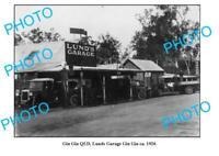 OLD 8x6 PHOTO GIN GIN QUEENSLAND LUNDS MOTOR GARAGE c1926