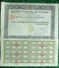Maroc Epoque Coloniale - Tanger - Belle Déco Plan Ste Urbaine de Tanger de 1922