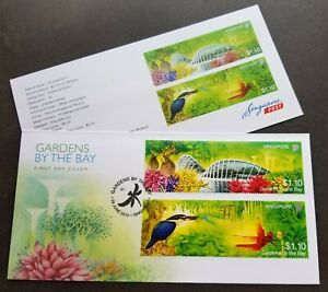 Singapore Gardens By The Bay 2012 Kingfisher Dragonfly Tree Orchid Flower (FDC)