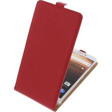 Funda para Alcatel A3 XL Protectora Teléfono Móvil con Tapa Carcasa Roja