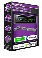 Citroen C1 DAB radio, Pioneer stereo CD USB AUX player, Bluetooth handsfree kit