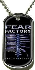 "FEAR FACTORY DOG TAG ""DEMANUFACTURE"" - NECKLACE - HUNDEMARKE - HALSKETTE"