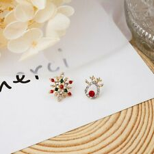 Fashion Christmas Deer Elk Snowflake Earrings Ear Stud Women Jewellery Xmas Gift